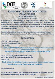 Simposio neurobiologia 17 maggio 2017